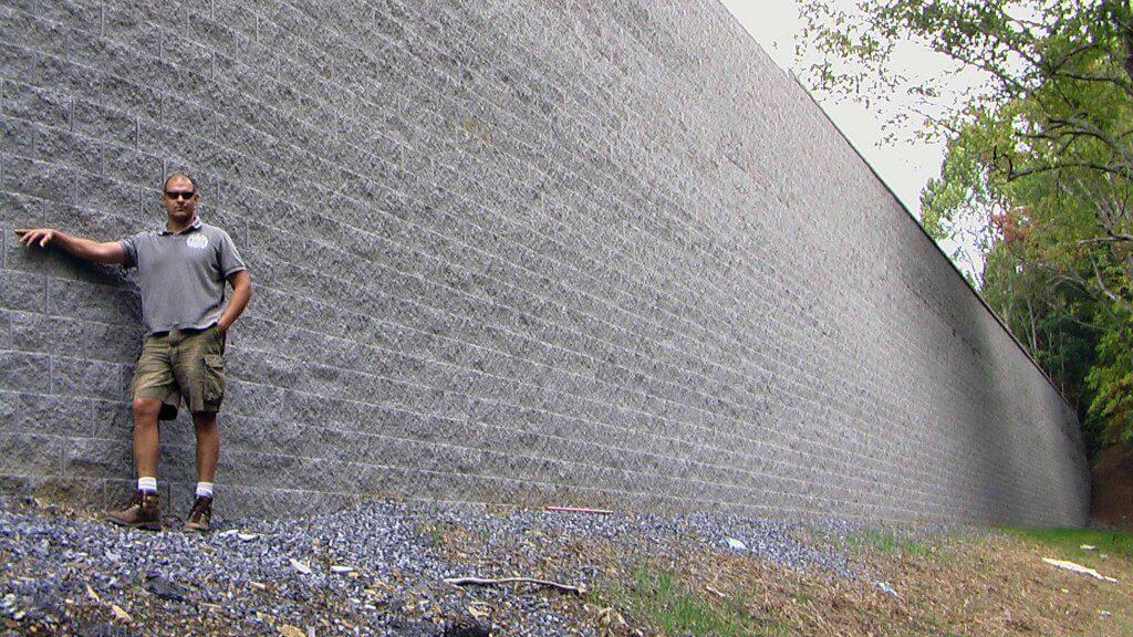 CornerStone 100 Tall Retaining Wall at Fun Depot in North Carolina