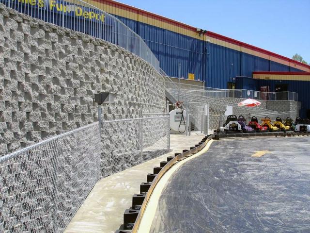 CornerStone Retaining Walls with Ramps in North Carolina