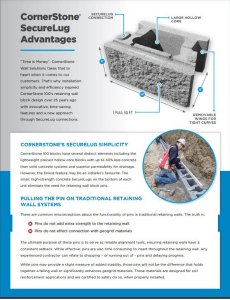 CornerStone Retaining Wall System SecureLugs Facts