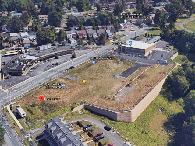 Aerial View of Plaza Centro CornerStone Retaining Wall