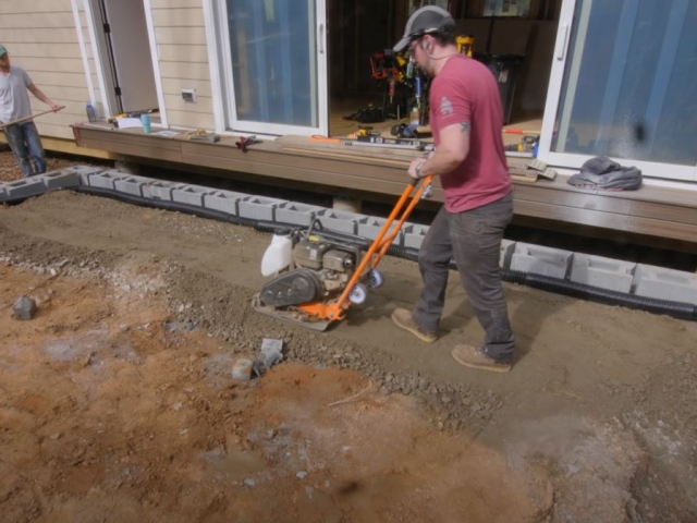CornerStone retaining wall backfill compaction by Crafted Workshop