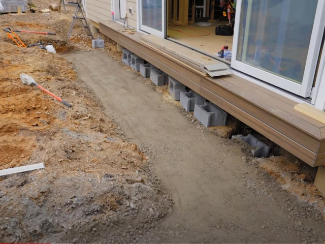 CornerStone retaining wall base leveling pad by Crafted Workshop