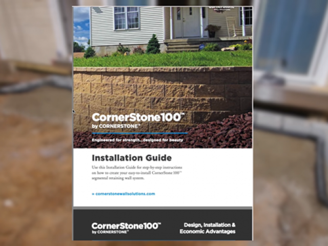 CornerStone retaining wall installation guide featured on Crafted Workshop