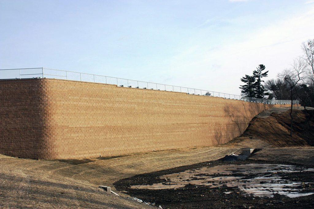 Commercial Development Retaining Wall in Lancaster, Pennsylvania