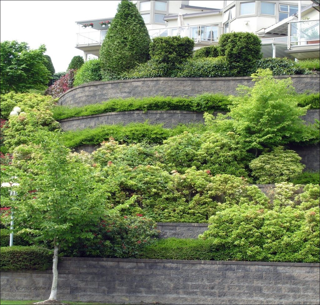 CornerStone Planter Pocket Retaining Wall in Vancouver, BC