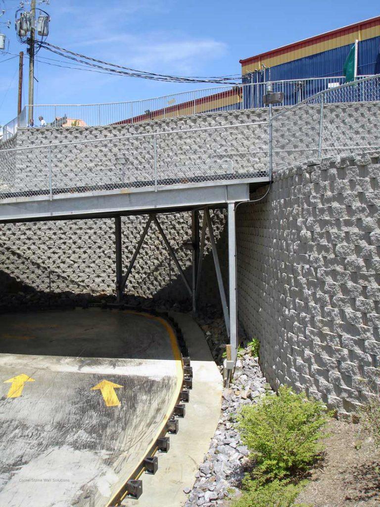 CornerStone Retaining Wall and Bridge - North Carolina