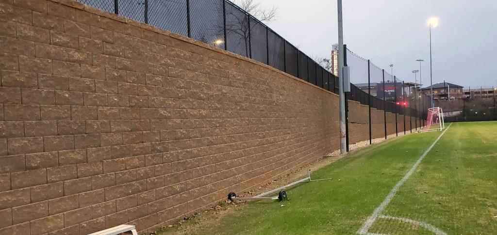 CornerStone Retaining Wall at Liberty University, Virginia