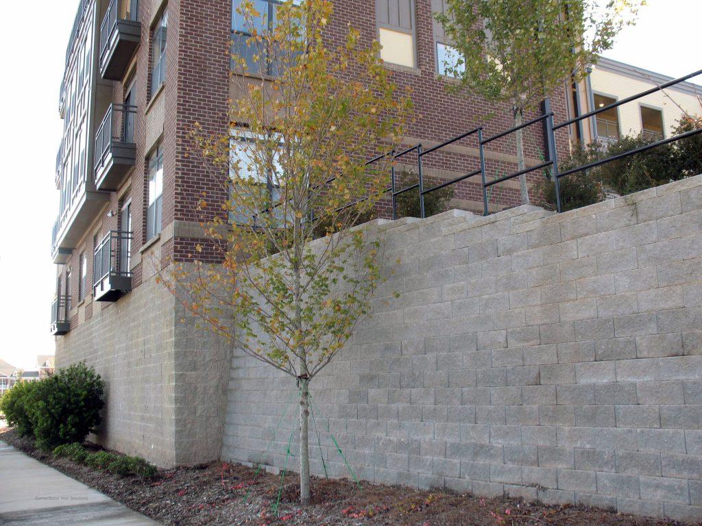CornerStone Retaining Wall for Apartments in Calgary, Alberta