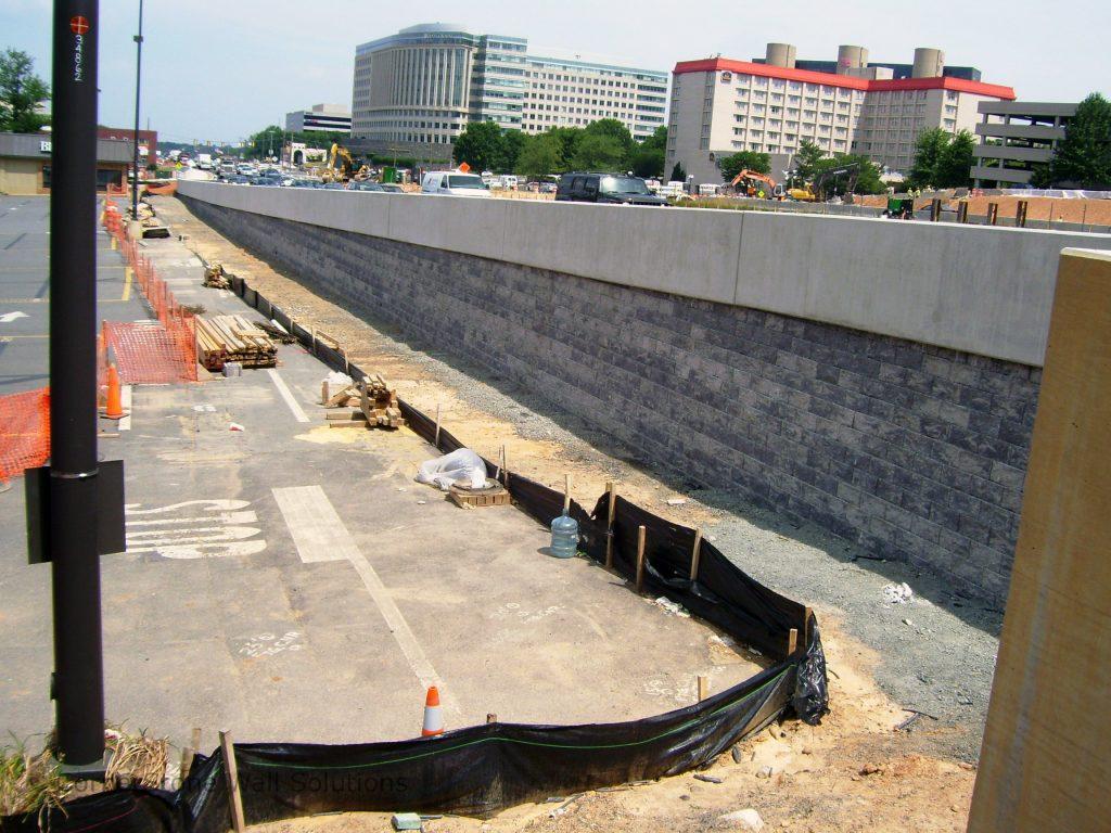 CornerStone Retaining Wall for Roadway in Herndon, Virginia