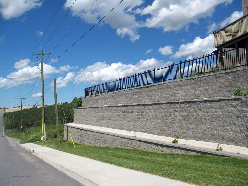 CornerStone Tiered Retaining Wall in Calgary, AB