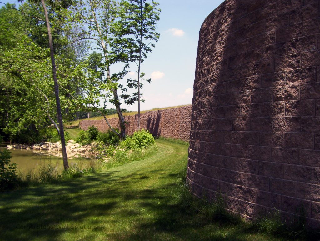 Curved CornerStone Retaining Wall in Gaithersburg, Maryland