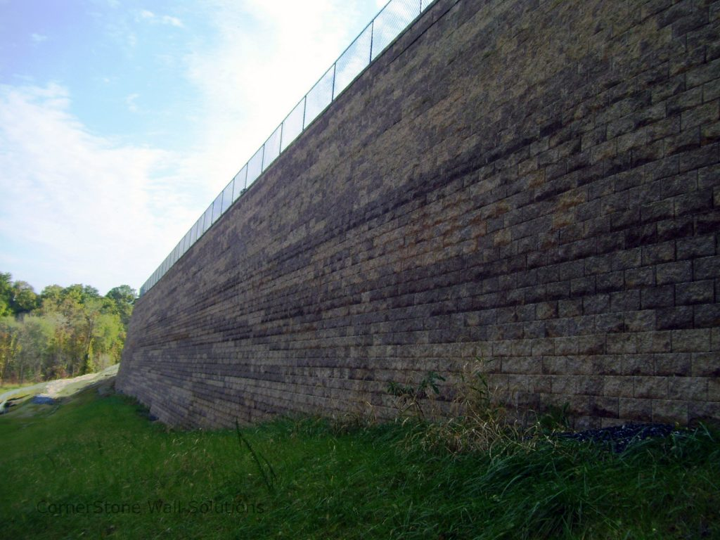 Large CornerStone Retaining Wall in Hagerstown, Maryland