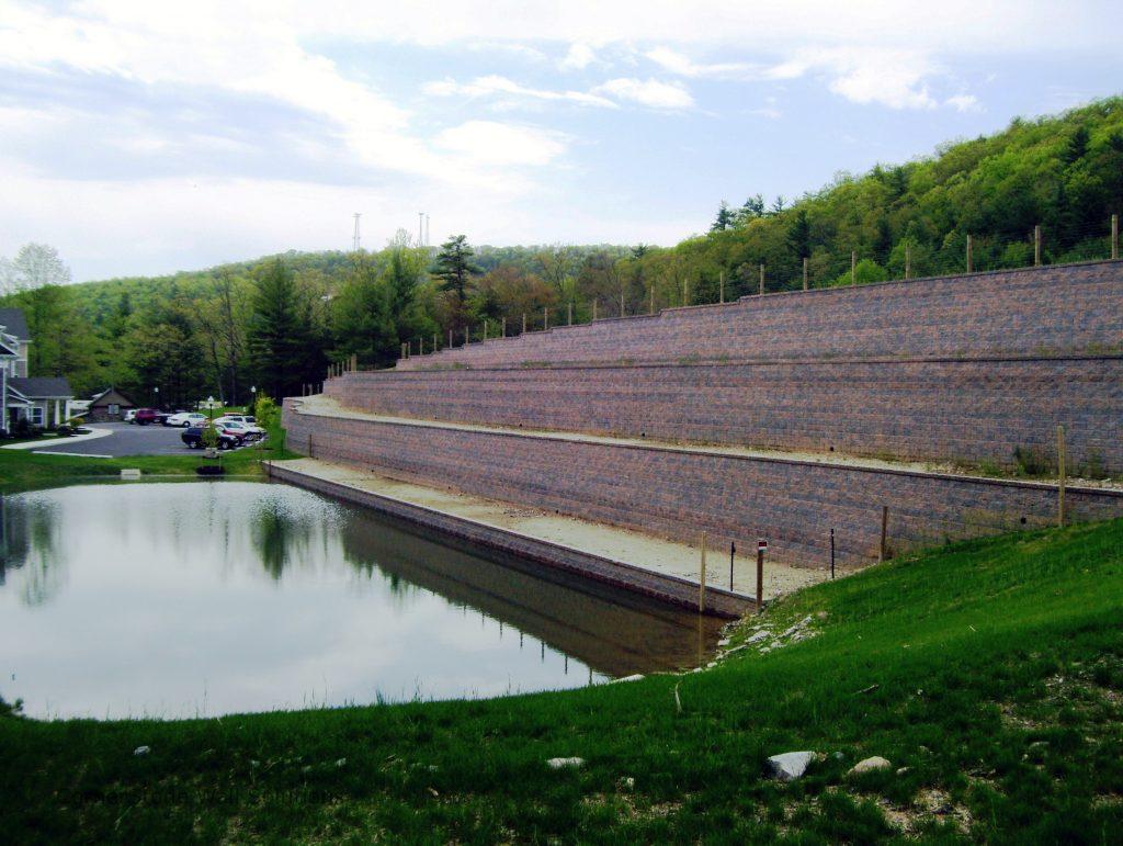 Terraced Retaining Wall in Laurel Run, Pennsylvania
