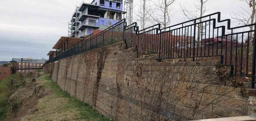 CornerStone Retaining Wall in downtown Lynchburg, Virginia