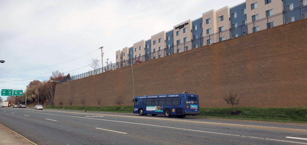 CornerStone Retaining Wall for Commercial Development in Roanoke Virginia