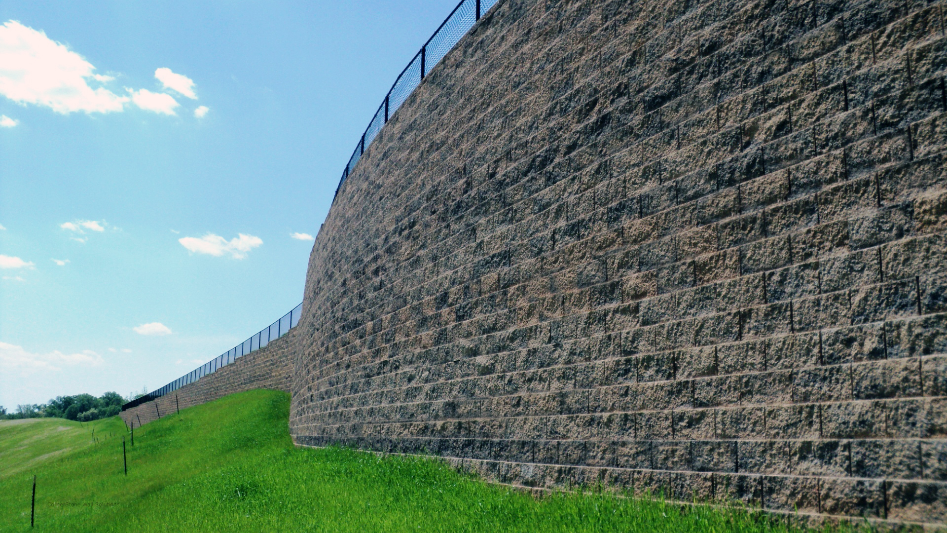 Tall Retaining Wall in Hagerstown, Maryland