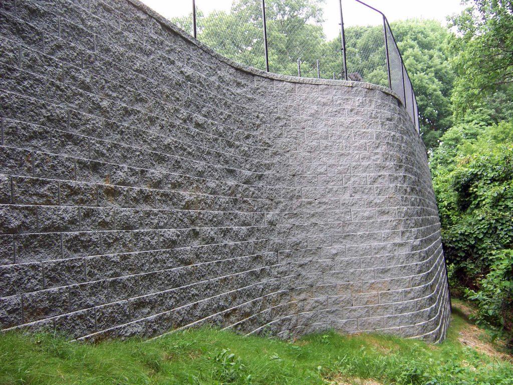 Tall CornerStone Retaining Wall - Atlanta, Georgia