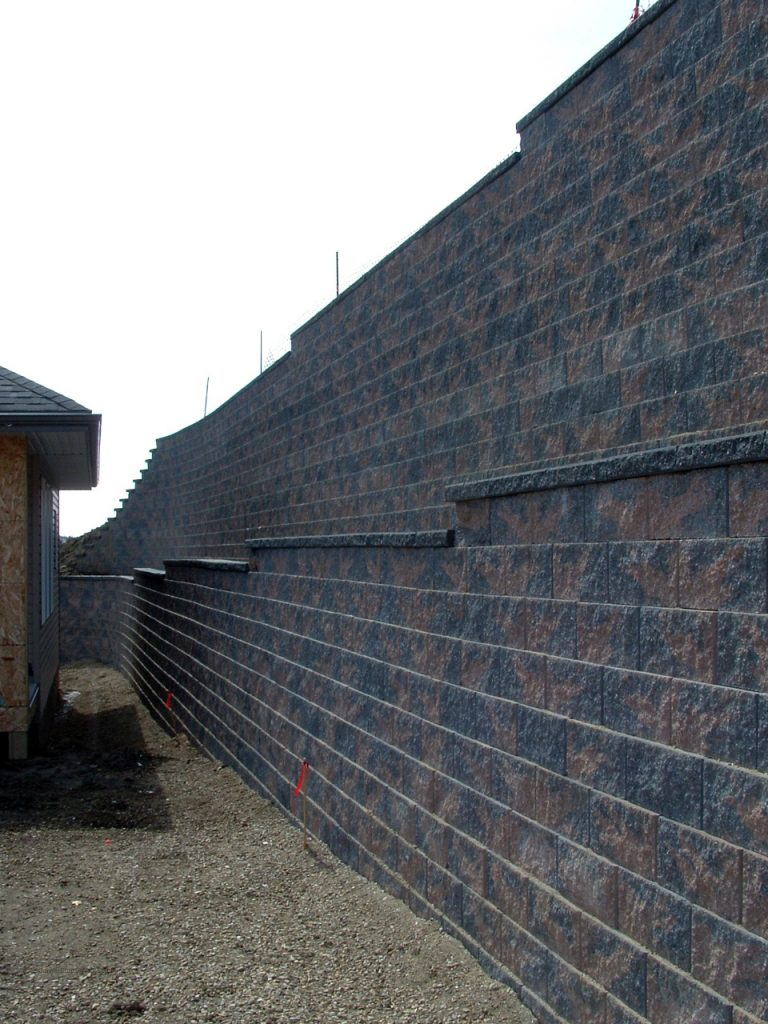 Tiered CornerStone Retaining Wall in Edmonton AB Canada