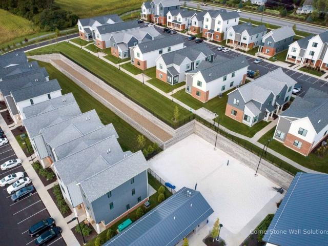 Aerial View of CornerStone Retaining Wall Penn State
