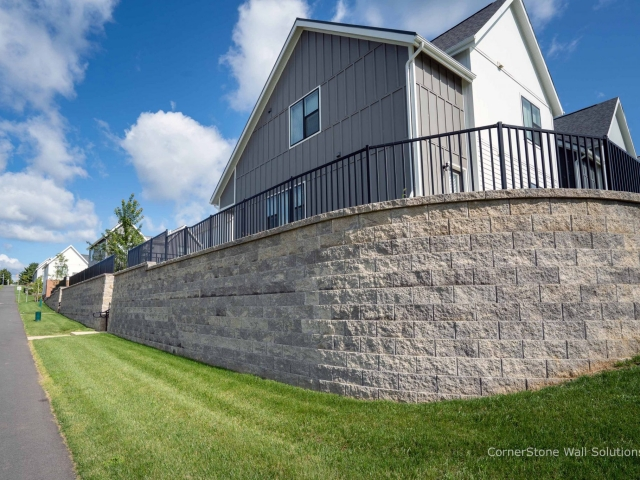 Curved CornerStone Retaining Wall at Penn State