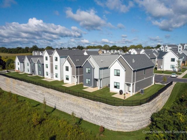 Residential Development Retaining Wall CornerStone