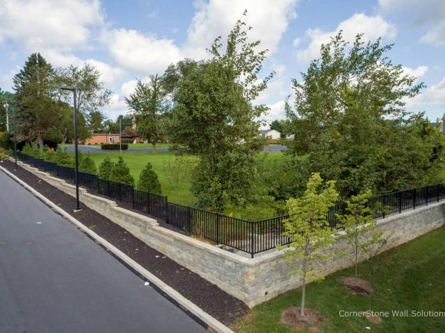 Short CornerStone Retaining Walls at Penn State