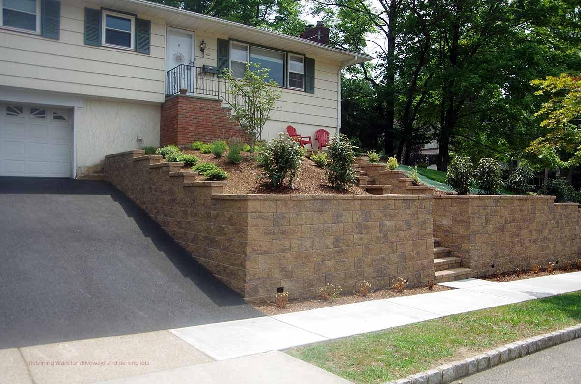 driveway retaining walls